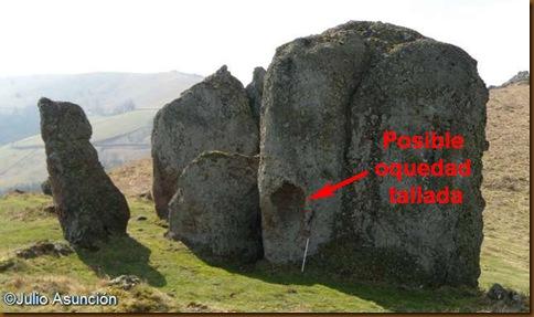 Oquedad en la roca principal de Seineguy - Baja Navarra