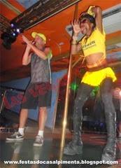 MC Serginho e Gazela no palco da Las Vegas