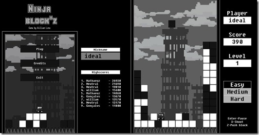 Ninja_Blockz free indie game