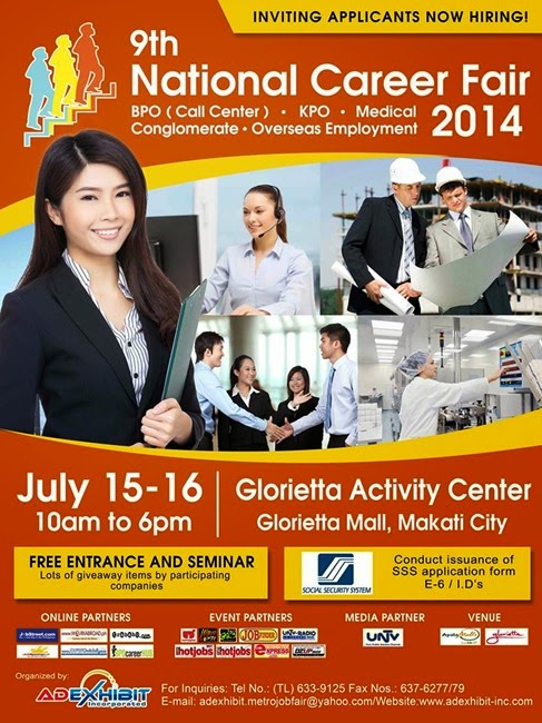 Job Fair Glorietta July 15-16, 2014