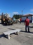 Operários no projeto de revitalização do Mar Grosso