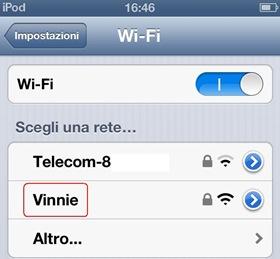Hotspot Wi-Fi creato su Windows 8 e 7 individuato nella ricerca reti