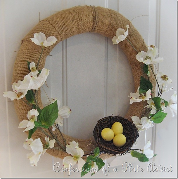 CONFESSIONS OF A PLATE ADDICT Easy Spring Wreath2
