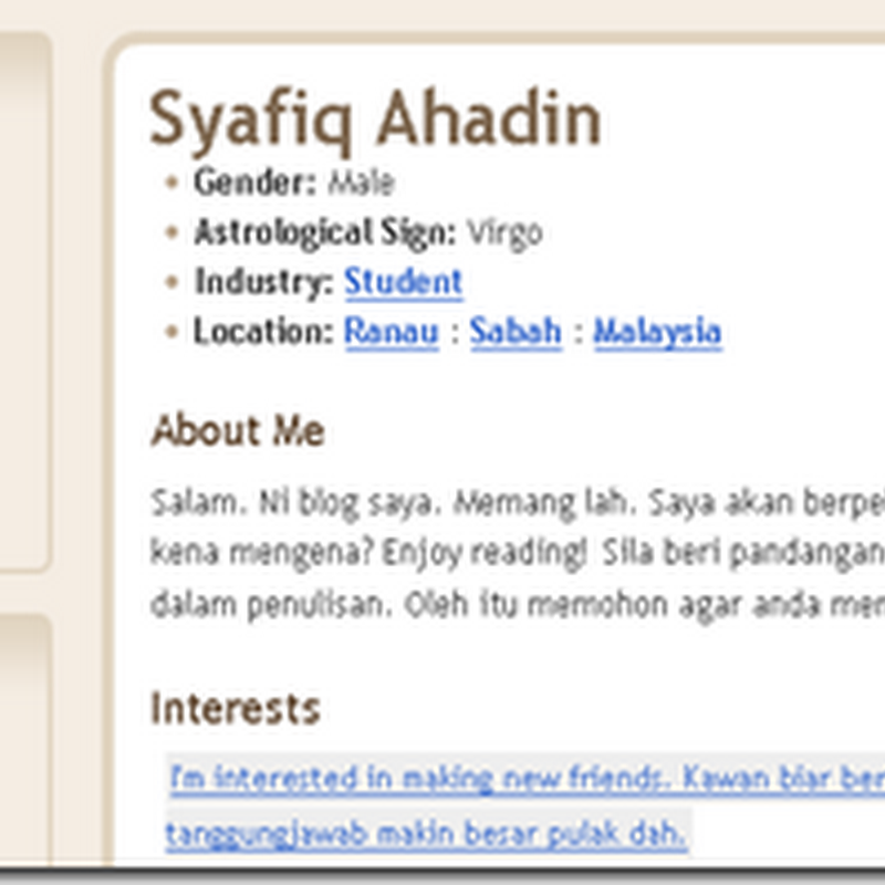 Blogger Pilihan BEN ASHAARI