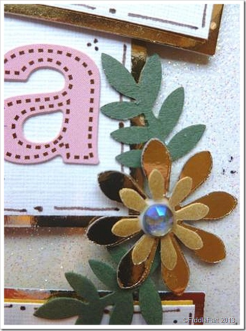 50th Birthday Card Gold Flowers