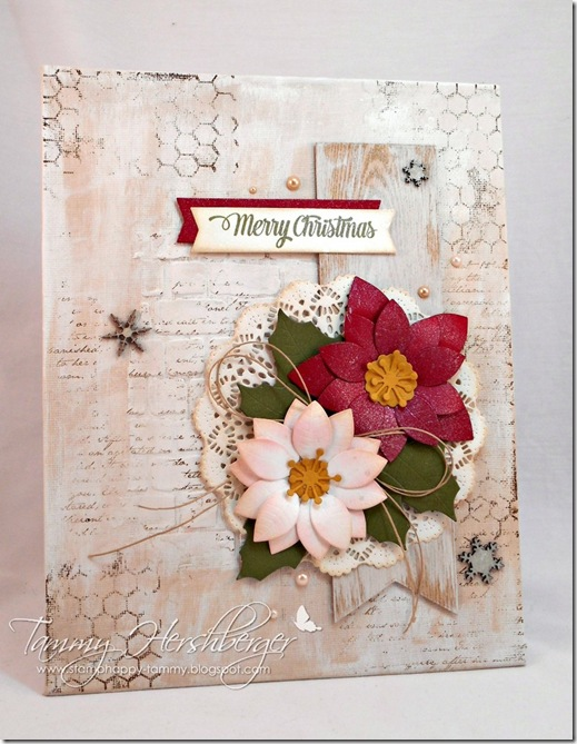 Christmas Canvas for Aunt Thead by Tammy Hershberger