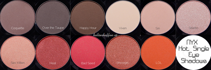 NYX Hot Single Eyeshadows