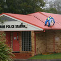 Scarecrows at Tamborine Police Station
