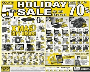 Courts 5 Days Holiday Sale