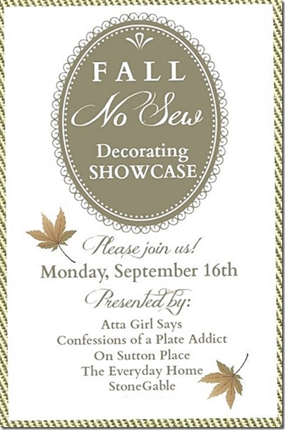 No-Sew Decorating Showcase Fall Edition