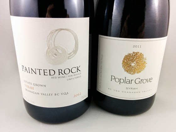 Painted Rock Syrah 2012 & Poplar Grove Syrah 2011