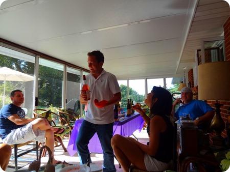 Dave explaining wine.