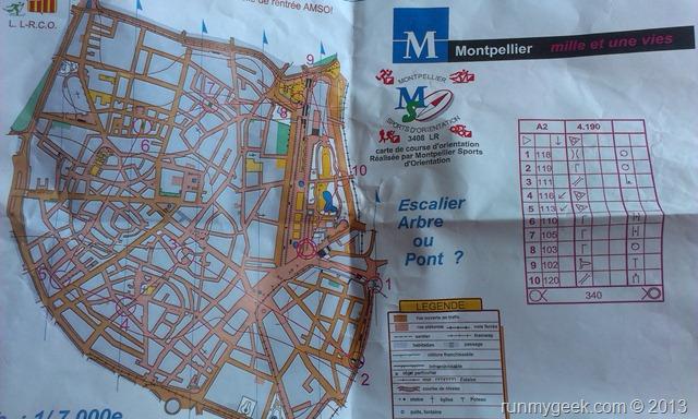Carte de course d'orientation