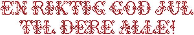Julehilsen i 5D Cross Stitcher