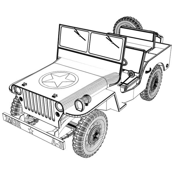 Hermosa Jeep Para Colorear Motivo - Ideas Para Colorear ...