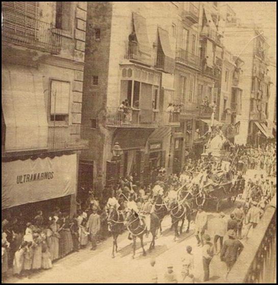 Feria-de-Julio.-Cabalgata-calle-de-San-Vicente 1895
