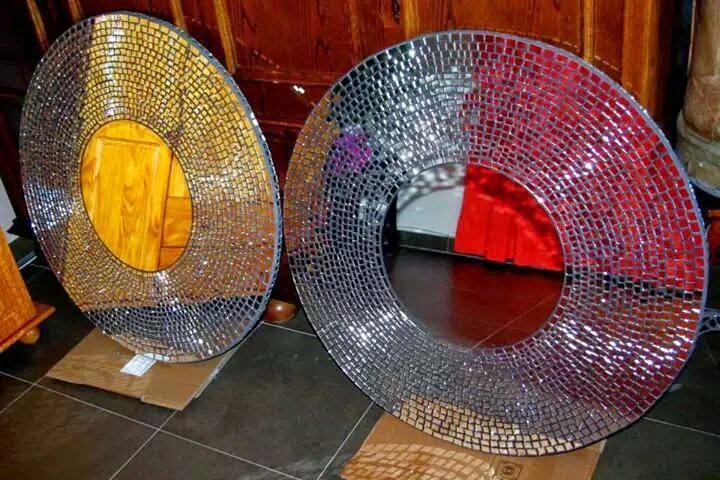 Cr ation d coration miroir style mosa que et autre for Miroir du desir