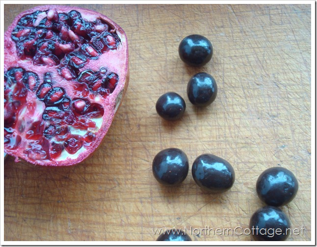 brookside chocolates with pomegranite @northerncottage.net