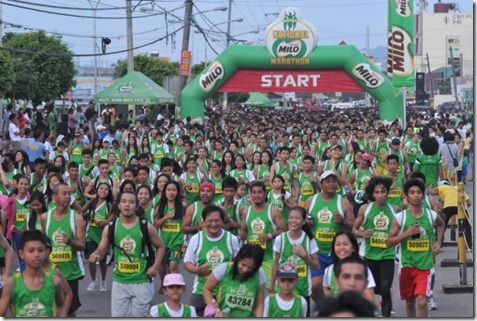 6601 runners competed in the third qualifying run of the 37th National MILO Marathon Sunday in Naga City.