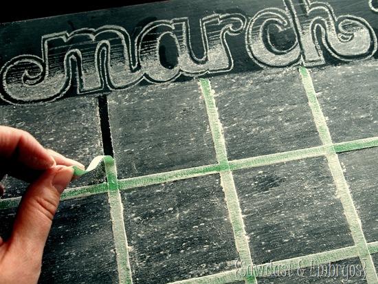 Chalkboard Calendar (Sawdust & Embryos)