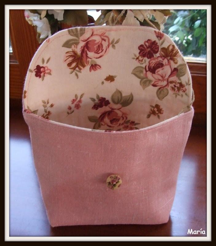 Bolsas de lino rosa-6