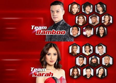 Team Bamboo and Team Sarah - The Voice PH 2