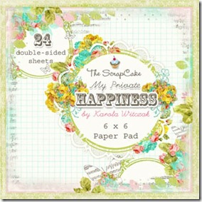 The Scrap Cake My Private Happiness - 6x6 Pad