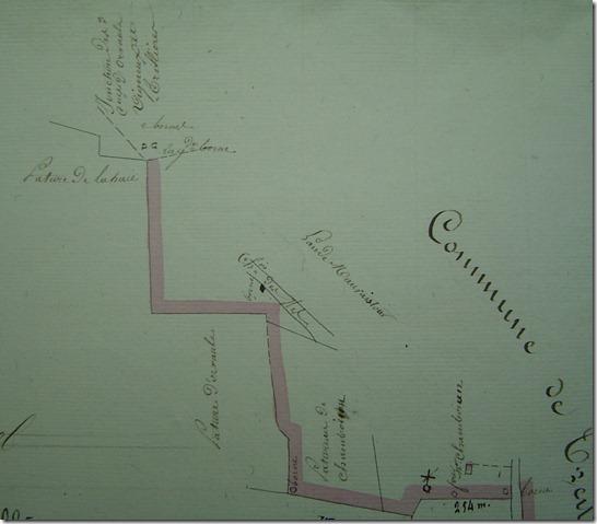 détail de la limite près de Chambouin