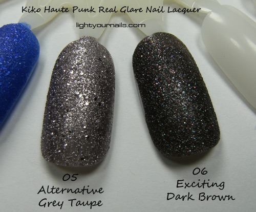 Kiko Haute Punk 05 Alternative Grey Taupe 06 Exciting Dark Brown