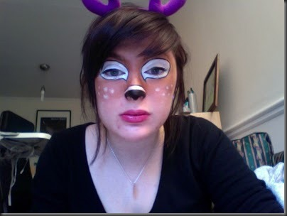 ciervo maquillaje