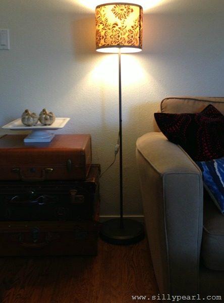 Torchiere Lamp to Drum Shade Floor Lamp - The Silly Pearl