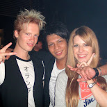 matt kazu and heather at star fire in Ginza, Tokyo, Japan