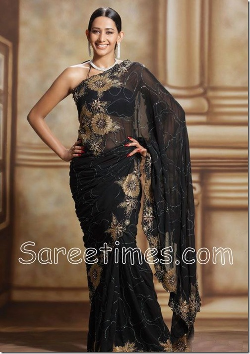 Sanjana_Singh_Black_Saree