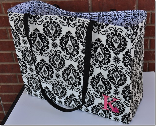DAMASK TOTE BAG