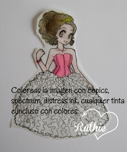 Tutorial usando una estampa digital en una vela - Digi stamp on a candle - Latinas Arts and Crafts - Ruthie Lopez DT 4