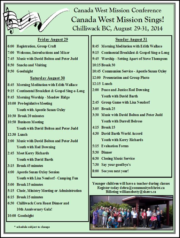 MC 2014 schedule