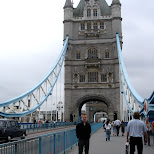 on the london tower bridge in London, London City of, United Kingdom
