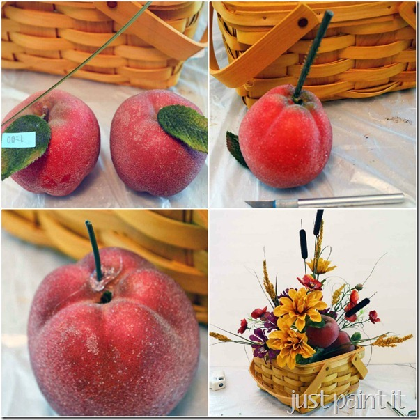 Add fruit to centerpiece