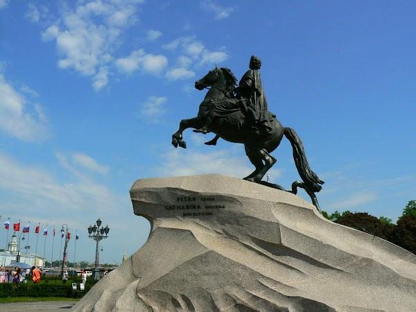Obiective turistice Rusia: statuia lui Petru cel Mare Sankt Petersburg.JPG