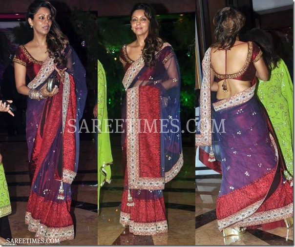 Gauri_Khan_Purple_Saree