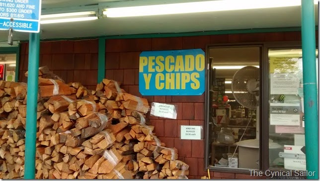 Pescado y Chips sign in Newport