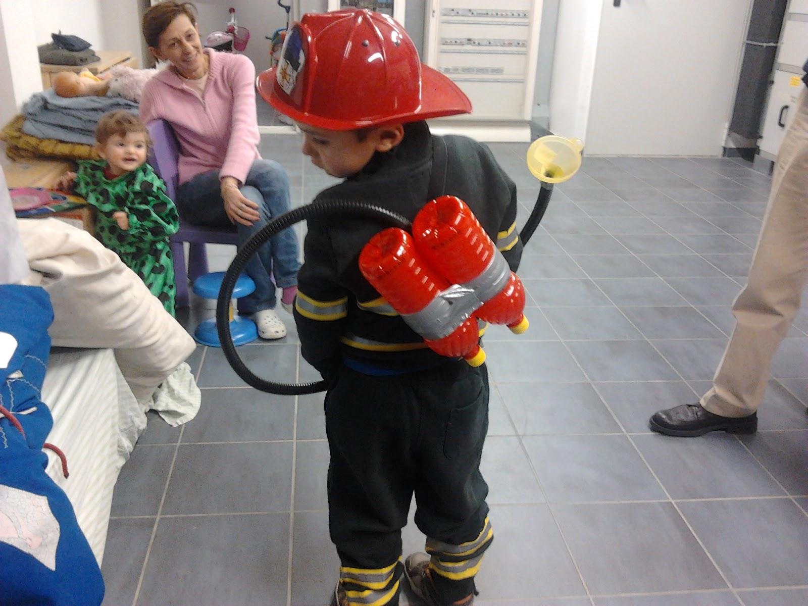 Servizio educativo i fenicotteri costume da pompiere for Papillon bambino fai da te