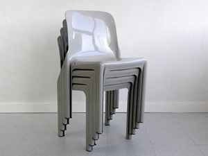 Selene stacking chair, gray
