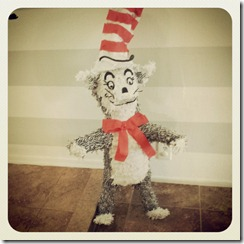 Cat in the Hat pinata made by her grandma