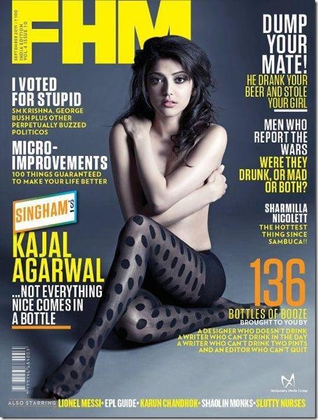 Kajal Agarwal_topless_ FHM_Magazine