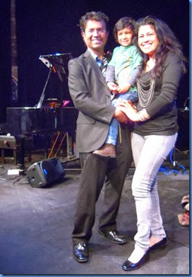 Ben Fernandez with his beautiful wife, Maria, and son Joshua relaxing immediately after the show.