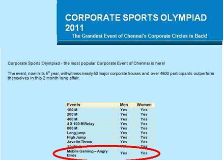Corporate Olympiad 2011