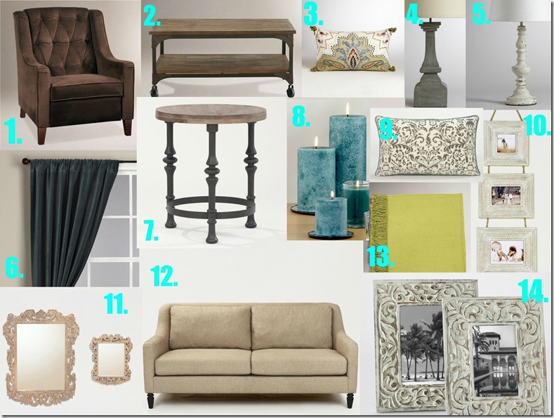 Living room makeover with World Market