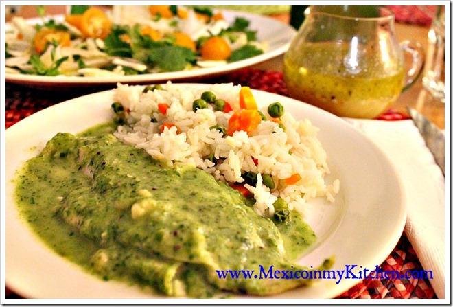 Quick & Easy Fish Fillets with creamy parsley sauce