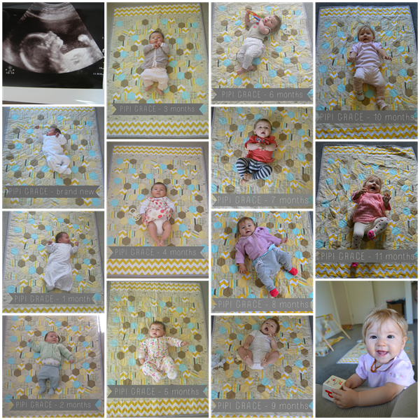Pipi 11 months collage